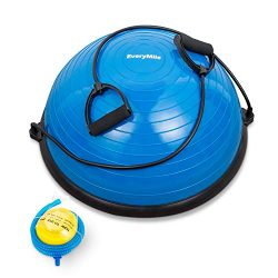 Everymile Half Ball Balance Trainer Stability Yoga Exercise Ball with Resistance Bands & Pum ...