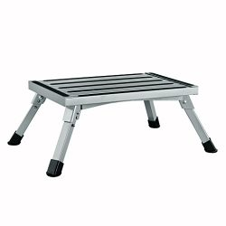 Finether Portable Rv Step Stool| Height Aluminum Folding Platform Step with Non-Slip Rubber Feet ...