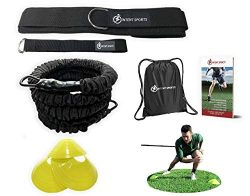 INTENT SPORTS 360° Dynamic Speed Resistance and Assistance Trainer Kit 8 Ft. Strength 80 Lb Resi ...