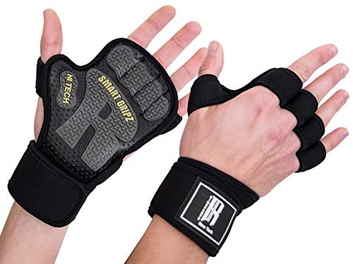 Weight Lifting Gloves for Women & Men – Barehand Gloves with Neoprene Wrist Wraps -Wor ...