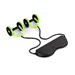 TOOGOO Abdominal Waist Slimming Trainer Exerciser Roller Core Double AB Wheel Fitness Equipment