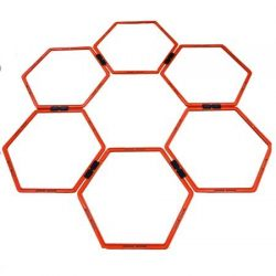 Oncourt Offcourt Hexo Agility Rings – Set of 6 Rings/Clip Together & Pull Apart/Movement &am ...