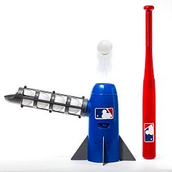 Franklin Sports MLB Kids Pitching Machine – POP ROCKET Kids Baseball Trainer – Inclu ...