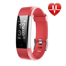 LETSCOM Fitness Tracker HR, Activity Tracker Watch with Heart Rate Monitor, Waterproof Smart Fit ...