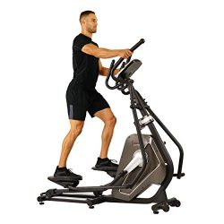 Sunny Health & Fitness Magnetic Elliptical Trainer Elliptical Machine w/LCD Monitor and Hear ...