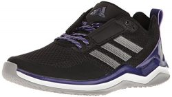 adidas Men's Freak X Carbon Mid Cross Trainer, Black/Iron/Collegiate Purple, 6.5 Medium US