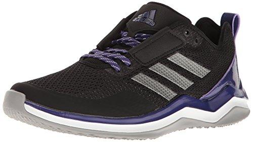 adidas Men's Freak X Carbon Mid Cross Trainer, Black/Iron/Collegiate Purple, 6.5 Medium US