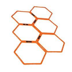 Bestmemories Football Training Rings Field Marking Equipment Training Hexagonal Agility Ring Tra ...