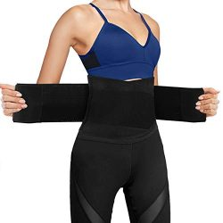 Ufanore Waist Trainer Belt for Men & Women, Breathable Abdominal Waist Trimmer, Stomach and  ...