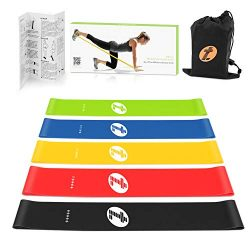 Etoplus Resistance Bands – Set of 5 Exercise Bands, Resistance Loops Workout Bands for Physical  ...