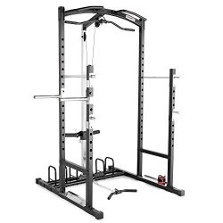 Marcy Home Gym Cage System Workout Station for Weightlifting, Bodybuilding and Strength Training ...