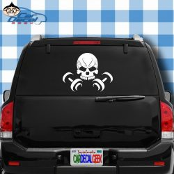 Skull Dumbbells Weights Bodybuilding Vinyl Decal Sticker for Car Truck Window Laptop MacBook Wal ...
