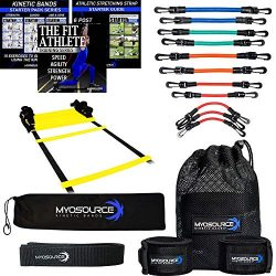 Kinetic Bands Leg Resistance Bands Speed and Agility Ladder Training Kit