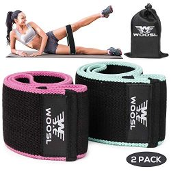 WOOSL Resistance Exercise Bands for Legs and Butt, Hip Bands Booty Bands Workout Wide Bands Spor ...
