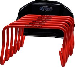 World Sport Set of SIX 12 Inch Agility Hurdles with Carry Bag