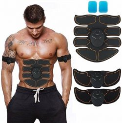 JoJoMooN Muscle Toner, Abdominal Toning Belt EMS ABS Toner Body Muscle Trainer Wireless Portable ...