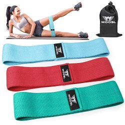 WOOSL Resistance Exercise Bands for Legs and Butt,Workout Bands Hip Bands Wide Booty Bands Sport ...