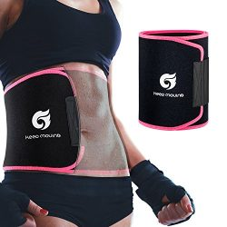 Waist Trimmer Belt, Premium Waist Trainer Sweat Sauna Belt for Women & Men, Promotes Sweat & ...