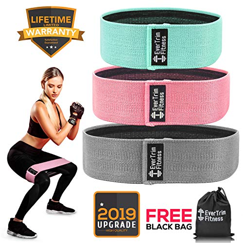 Resistance Bands for Legs and Butt, Exercise Bands Booty Bands Hip Bands Wide Workout Bands Spor ...