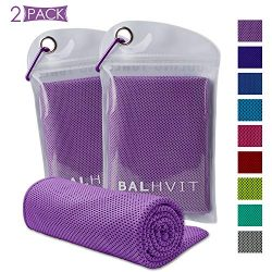Balhvit 2 Pack Cooling Towel, Ice Towel, Microfiber Towel for Instant Cooling Relief, Cool Cold  ...