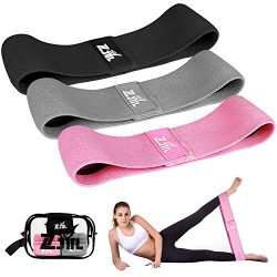 ZJTL Resistance Bands, Strength Booty Bands, Fabric Elastic Loop Exercise Bands, Fitness Hip Ban ...