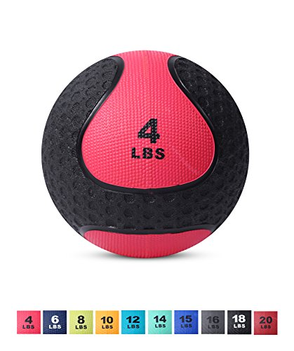 Day 1 Fitness Medicine Exercise Ball with Dual Texture for Superior Grip 4 Pounds – Fitnes ...