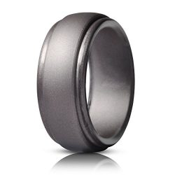 Saco Band Silicone Ring for Men Rubber Wedding Band – 1 Ring (Brass, 13.5-14 (23.02mm))