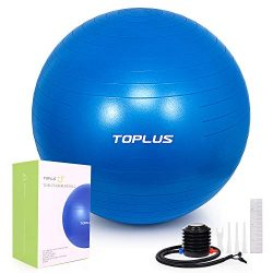 TOPLUS Exercise Ball (Multiple Sizes) Extra Thick Yoga Ball Chair for Fitness, Stability, Balanc ...