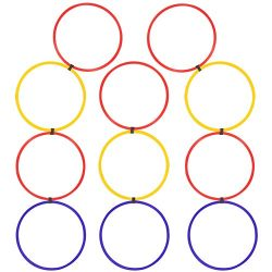 Agility Hoops Ladder Set | 11 Linked Speed Training Rings | Sports Conditioning Drill Equipment  ...