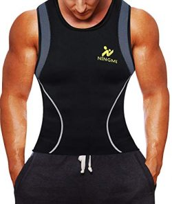 Men Neoprene Waist Trainer Jacket Sweat Vest Sauna Compression Suit Corset Top for Abdominal Tra ...