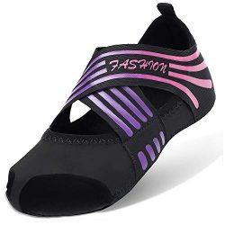Barerun Girls'/Women's Comfortable Ballet Dance Shoes/Ballet Shipper/Yoga Shoe Pink  ...