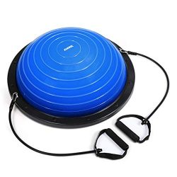 KUOKEL Exercise Balance Ball, Yoga Exercise Ball with Pump Balance Fitness Trainer Home Exercise ...