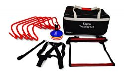 Uber Sports Agility Ladder and Hurdle Training Set with Carry Bag – Speed Training Exercis ...