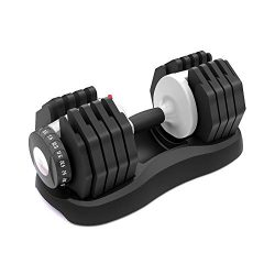 ATIVAFIT Adjustable Dumbbell 55 lbs Weight Set Home Fitness Adjustable Dial System Dumbbell for  ...