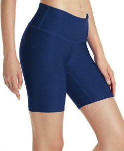 TSLA TM-FYS11-NVY_2X-Large Shorts 7 inches Bike Running Yoga w Hidden Pockets FYS11