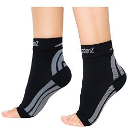 CompressionZ Plantar Fasciitis Socks – Compression Foot Sleeves – Ankle Brace w/Arch ...
