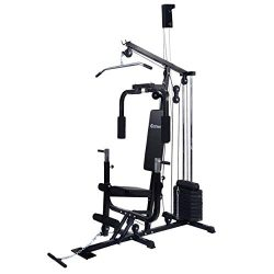 COSTWAY Home Gym Multifunction Fitness Station Workout Equipment Fitness Strength Machine Weight ...
