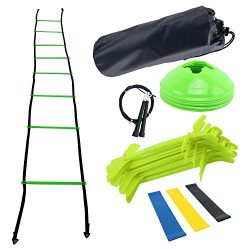 Yaegoo Agility Ladder and Hurdle Training Set – Speed Training Exercise Practice for Socce ...