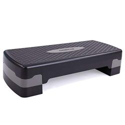 "neotheroad 27"" Adjustable Aerobic Workout Step Platform with Risers, for Indoor & Outd ..."