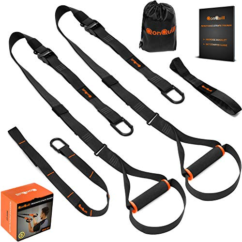 QonQuill BodyWeight Fitness Training Kit | Resistance Straps Trainer for Full Body Strength| Mul ...