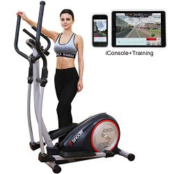 SNODE E20i Magnetic Elliptical Machine Trainer Fitness Exercise Equipment for Home Workout with  ...