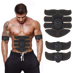 ABS Stimulator,Abdominal Muscle,ABS Trainer Body Toning Fitness Toning Belt ABS Fit Weight Muscl ...