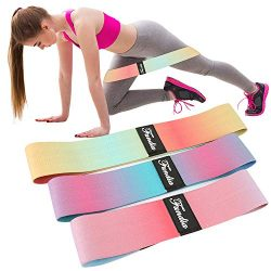 Fundia Resistance Bands Loop for Legs, Exercise Bands Fitness Workout Pilates Band for Yoga Spor ...