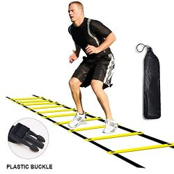 Agility Ladder for Kids Teens Speed Agility Training Ladders with Carrying Bag 12-Rung Adjustabl ...