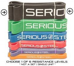 Serious Steel Fitness Black – #5 Strong Assisted Pull-up & Resistance Power Stretch Ba ...