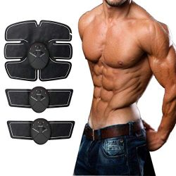 Portable Abdominal Machine Workout Muscle Abs Trainer Fitness Belt Training Device for Men/Women ...