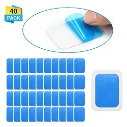 OUTERDO 20 Sets of 40 Pads Abs Trainer Replacement Gel Sheet, Replacement Gel Pads for Abdominal ...