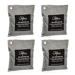 Bamboo Charcoal Air Purifying Bag (4 Pack), 200g Natural Air Freshener Bags, Activated Charcoal  ...