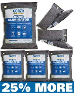 Gonzo Charcoal Air Purifying Bags [4 Medium Bags 250g & 4 Small 75g Bags] All-Natural Bamboo ...