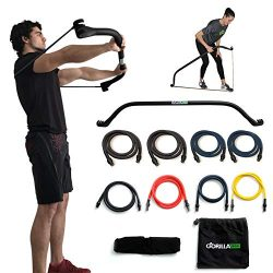 Gorilla Bow Portable Home Gym Resistance Band System – Heavy Set | Weightlifting & HII ...